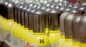 گاز نیتروژن ، سیلندر گاز نیتروژن
